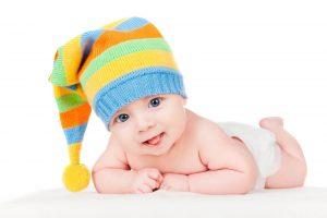 תינוק בכובע גרב